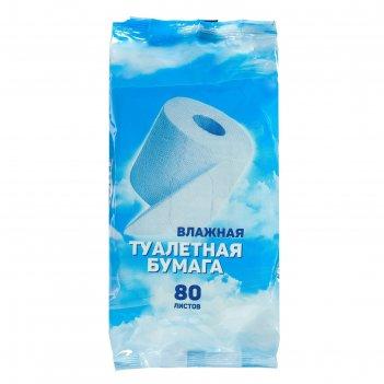 Day Spa влажная водорастворимая туалетная бумага 80 шт