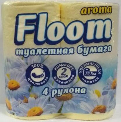 Floom Арома Ромашка 2-х слойная туалетная Бумага 4 рулона