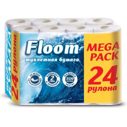 Floom Classic 2-х слойная туалетная Бумага 24 рулона