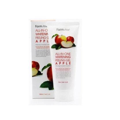 Farm Stay All-IN- ONE Whitening с экстрактом яблока отбеливающий гель-пилинг 180 мл