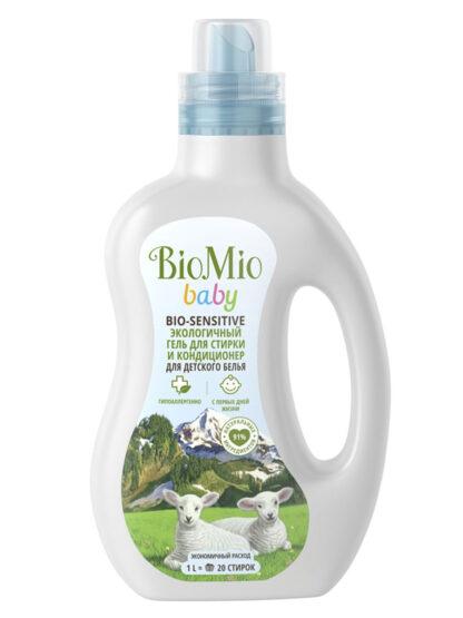 Bio Mio baby Bio-Sensitive кондиционер и гель для стирки экологичный для детского белья 1 л