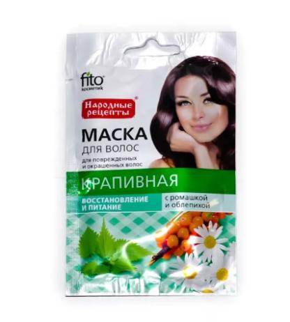 Fito восстановление и питание крапивная маска для волос 30 мл