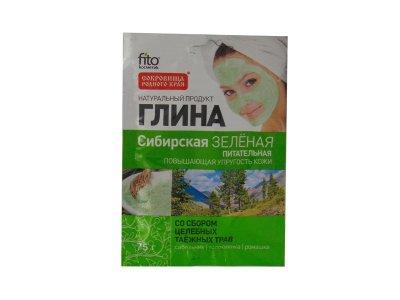 Fito сибирская Зеленая Питательная глина для лица 75 г