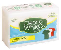 Clean & White by DURU универсальное хозяйственное мыло 2*125 г