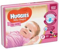 Huggies Ultra comfort подгузники для девочек 3 (5-9 кг) 80 шт