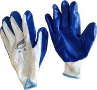 Перчатки х/б с залитой ладошкой тонкие