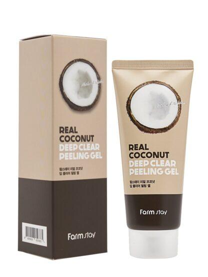 Farm Stay с экстрактом кокоса увлажняющий гель-пилинг 100 мл