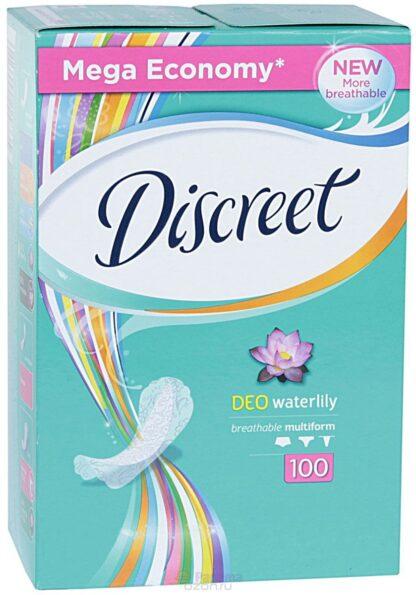 DISCREET Deo Waterlili ежедневные Прокладки 100 шт