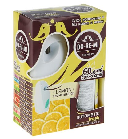 DO RE MI лимон освежитель воздуха+автоматический деспенсер+2 батарейки комплект