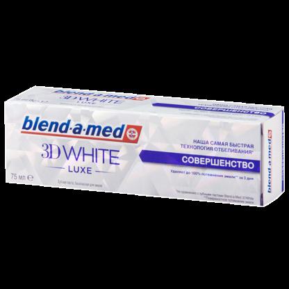 Blend a med 3D WHIDE LUXE Совершенство Зубная паста 75 мл
