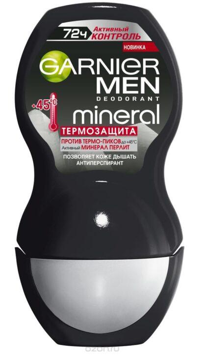 Garnier MEN mineral Активный контроль 72 ч Термозащита ролик Дезодорант 50 мл