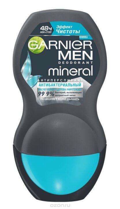 Garnier MEN mineral Эффект чистоты 48 ч Антибактериальный ролик Дезодорант 50 мл