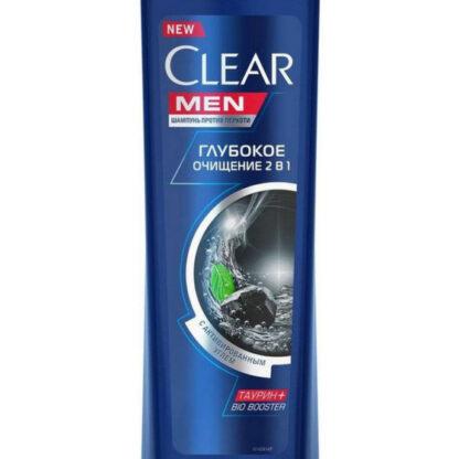 Clear men Глубокое очищение 2 в 1 С активным углем Шампунь и бальзам-ополаскиватель 200 мл