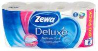 Zewa Deluxe Белая 3-х слойная туалетная бумага  8 рулона