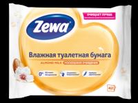 Zewa Almond mik Роскошное очищение влажная туалетная бумага 42 шт
