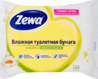 Zewa Camomile Нежное очищение влажная туалетная бумага 42 шт
