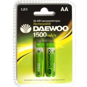 DAEWOO AA 1500mAh Ni-Mh Bl-2 аккумуляторные батарейки (цена за 1 шт)