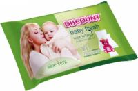 DISCOUNT Baby fresh С экстрактом алоэ вера детские влажные Салфетки 20 шт