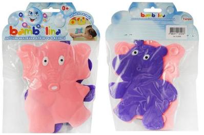 Bambolina слоник+бегемот детские игрушки на присосках для ванной 0 + 2 шт