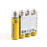 Varta Superlife R6 BL-4 солевые пальчиковые батарейки в пленке (цена за 1 шт)