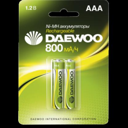 DAEWOO AAA 800mAh Ni-Mh Bl-2 аккумуляторные батарейки (цена за 1 шт)