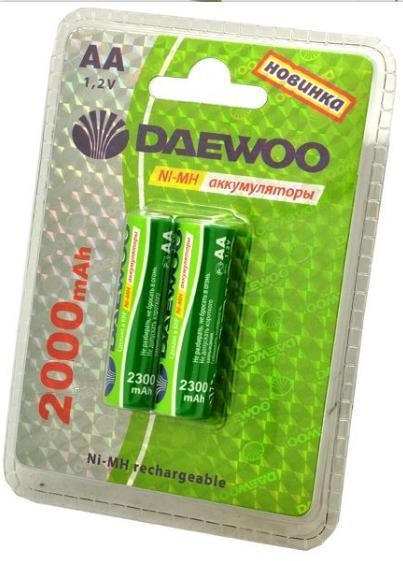 DAEWOO AA 2000mAh Ni-Mh Bl-2 аккумуляторные батарейки (цена за 1 шт)
