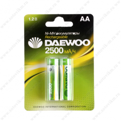 DAEWOO AA 2500mAh Ni-Mh Bl-2 аккумуляторные батарейки (цена за 1 шт)