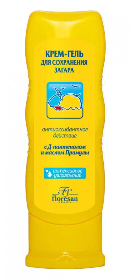 Floresan с Д-пантенолом и маслом Примулы крем-гель для сохранения загара 125 мл