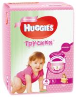 Huggies трусики для девочек 4 (9-14 кг) 17 шт