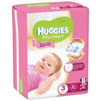 Huggies Ultra comfort подгузники для девочек 3 (5-9 кг) 21 шт