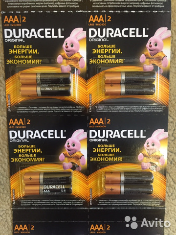 Duracell Original MX2400 ААА щелочные мизинчиковые батарейки (цена за 1 шт)