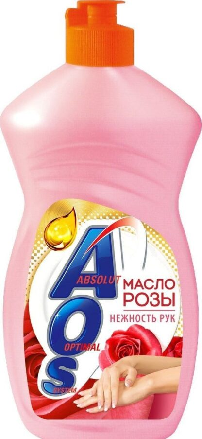 AOS масло розы средство для мытья посуды 450 мл