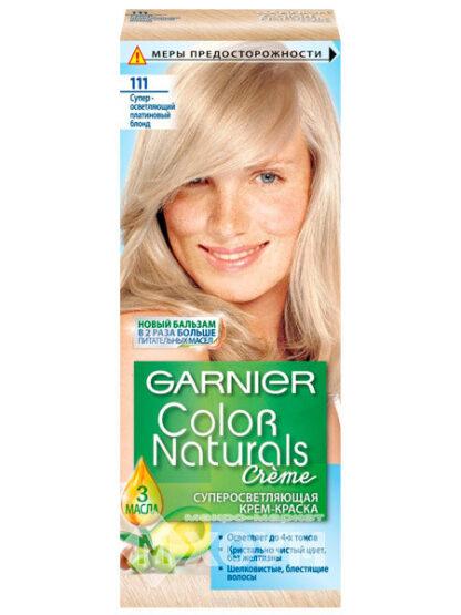 Garnier Color Naturals 111 суперосветляющий платиновый блонд крем-краска для волос
