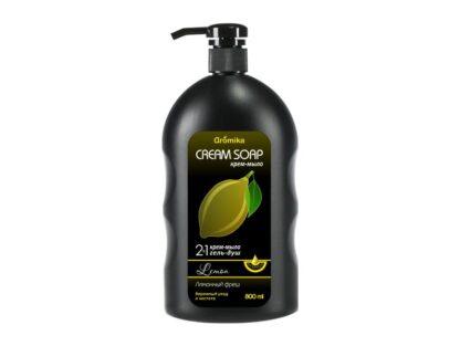 Aromika Лимонный фреш 2 в 1 Гель для душа + крем-мыло 800 мл