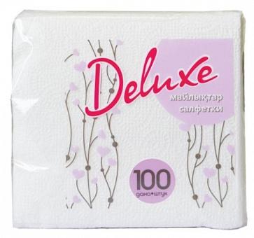 DeLuxe Салфетки бумажные сердечки 100 шт