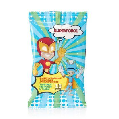Delicare Superforce Салфетки влажные очищающие для школьников 10 шт