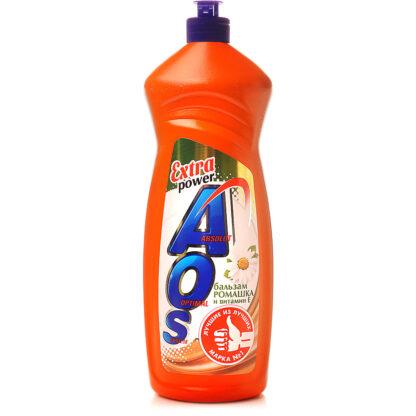 AOS Extra power бальзам ромашка  средство для мытья посуды 900 мл