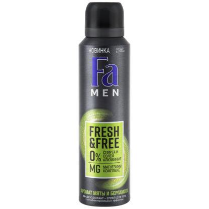 Fа Men Fresh&Free мята и бергамот спрей дезодорант 150 мл