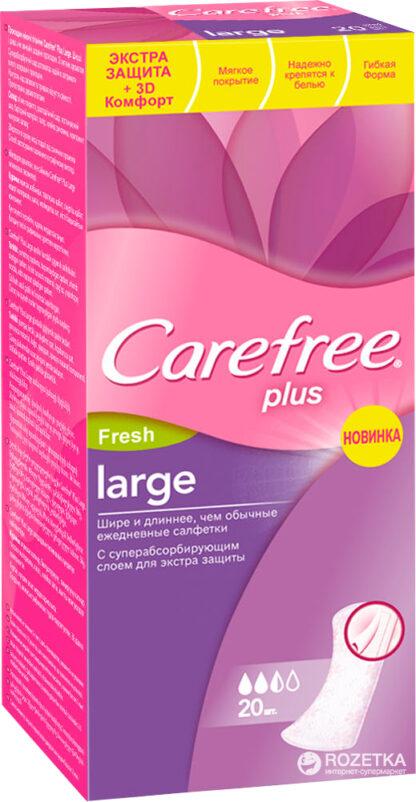 Carefree plus large Fresh ежедневные Прокладки 20 шт