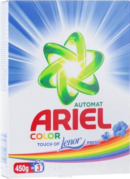 ARIEL аква пудра с ароматом от Lenor для цветного автомат порошок 450 г