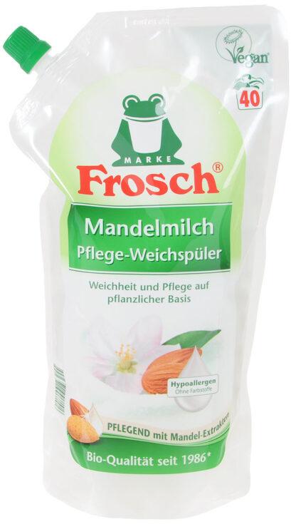 Frosch Миндальное молочко Ополаскиватель для белья в мягкой упаковке 1000 мл