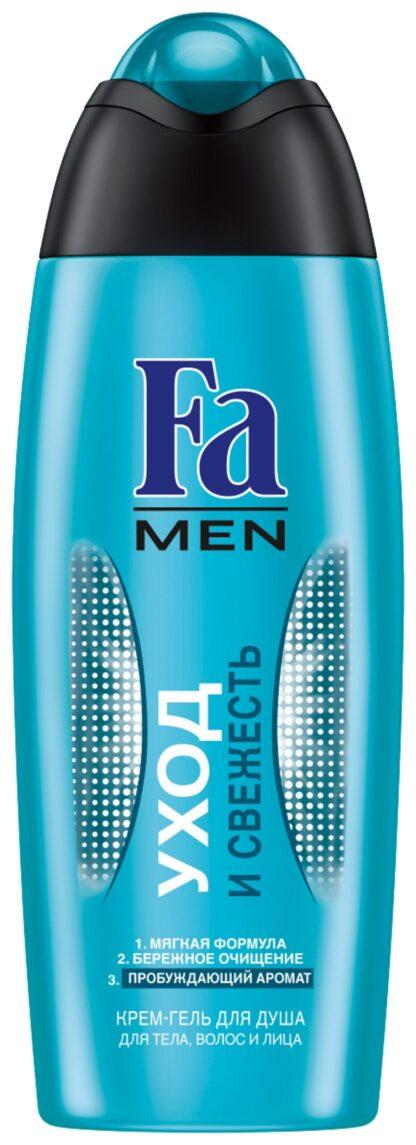 Fа Men уход и свежесть пробуждающий аромат для тела волос и лица Крем - Гель для душа 250 мл