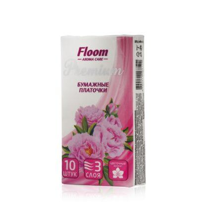 Floom Premium Aroma Care Цветочный аромат 3-х слойные Бумажные платочки 10 шт
