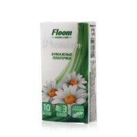 Floom Premium Aroma Care с ароматом ромашки 3-х слойные Бумажные платочки 10 шт