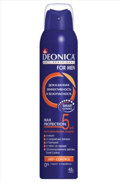 DEONICA MEN MAX Protection 5 in 1 спрей дезодорант 200 мл