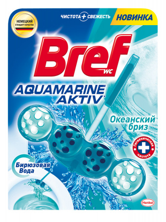 Bref Blue Aktiv Аквамарин Чистящее средство для унитаза 50 г