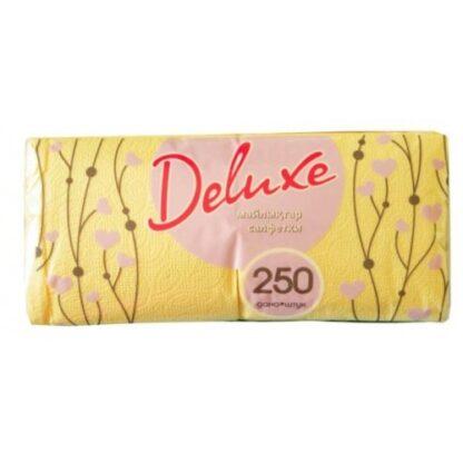 DeLuxe Салфетки бумажные в ассортименте цветные 250 шт