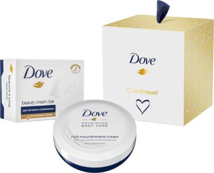 Dove С любовью! (крем-мыло 100 г + крем 75 мл) подарочный набор
