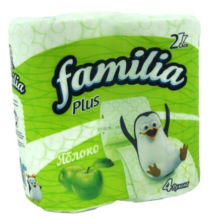 Familia Яблоко 2-х слойная Туалетная бумага 4 рулона
