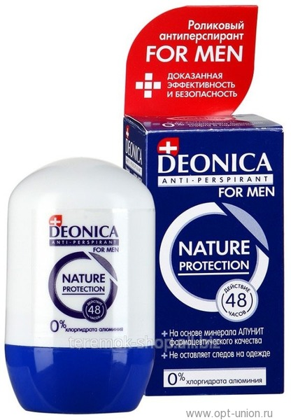 DEONICA MEN Nature Protection ролик дезодорант 45 мл